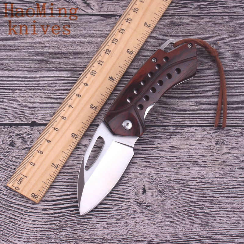 folding kitchen knives tactical hunting portable practical folding knife pocket cing survival fighting kitchen 2946