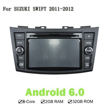 Android 6.0 RAM 32GB Car DVD Player For SUZUKI SWIFT 2011-2012 Car Stereo GPS NAVI Navigation Wifi Bluetooth 3G 4G Mirror Link