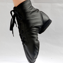 100% genuine leather jazz boots modern dance shoes square pair - Online Store 725955 store