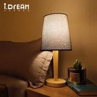 IDERAN Characteristics Table Lamp Creative Fashion Retro Original Wooden Lamp Shade Of Contemporary Shade Lamp Bedroom