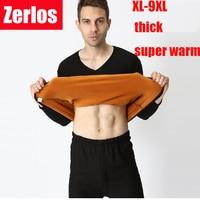 Size XL 9XL 2016 Autumn And Winter Men Thicken Thermal Underwear Men Long Johns Gold Velvet