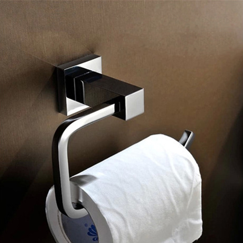 brass toilet paper holder chrome bathroom toilet roll holder for paper towel square bathroom accessories wall