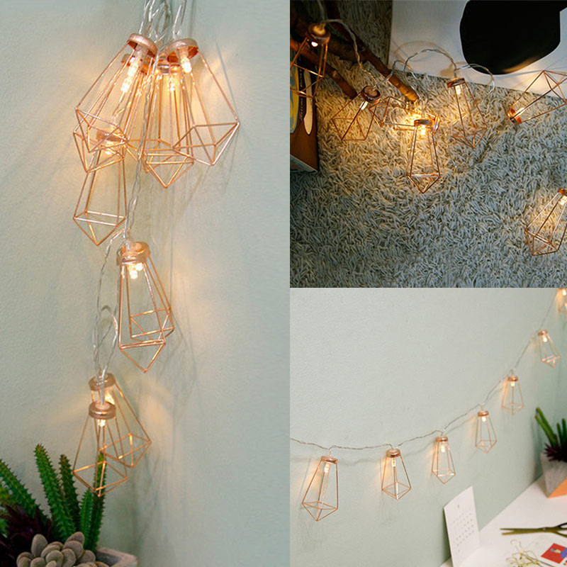 LED String Light with 10 LED Room Garden Lamp Yard Festival Christmas Geometry Decoration ALI88