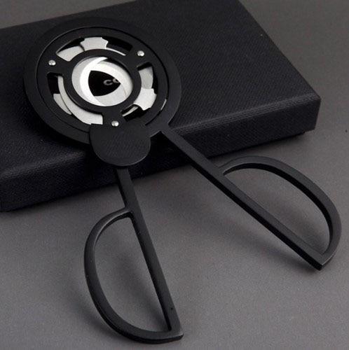 COHIBA Gadgets Stainless Steel Triple Blade Cuban Cigars Scissors Sharp Staright Cut Cigar Cutter Black/Silver