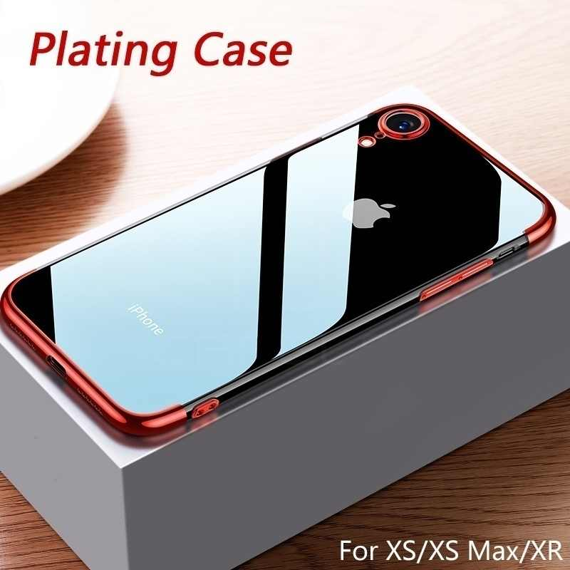 Fashion Plating Phone Case For iPhone XS Max XR XS X 6 6s 7 8 Plus Clear Soft TPU Protective Back Cover Cases Coque Fundas Capa