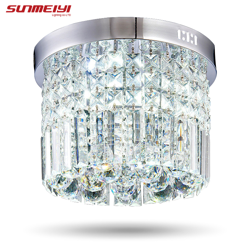 Modern Crystal LED Ceiling <font><b>light</b></font> Fixture For Indoor Lamp lamparas de techo Surface Mounting Ceiling Lamp For Bedroom Dining <font><b>Room</b></font>