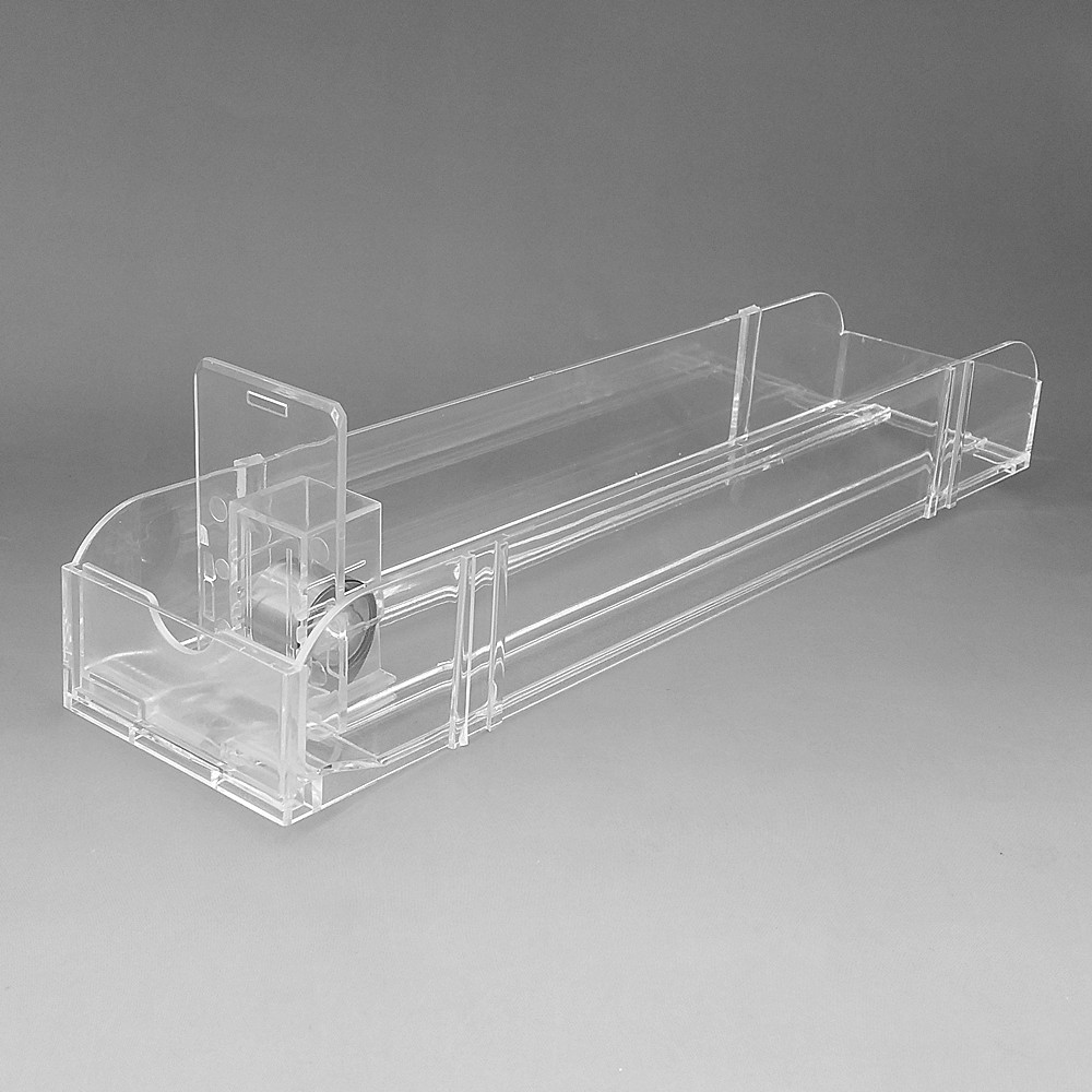 Unibody Double L28cm Plastic Supermarket Shelf Rack Cigarettes Products Automatic Replenishment Pushing Pusher System 10pcs