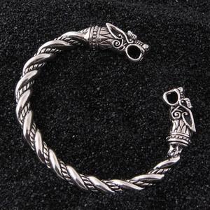 Image 2 - Yage DropShipping 925 Sterling Silver rune Dragon/Wolf viking bangle adjustable