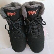 huge selection of 3a30d 4b4ce Hiver Chaussures Étudiants En Peluche Chaud Sneakers Entraîneur de Basket-Ball  Hommes et Femmes Couple Neige Bottes Rétro Sport .