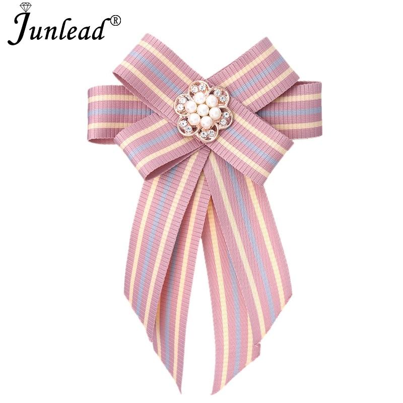48b65e4f113 Junlead Trendy New Women jewelry Big Fabric Bow Tie Big Cloth Bowknot  Classic Pearl flower Shirt