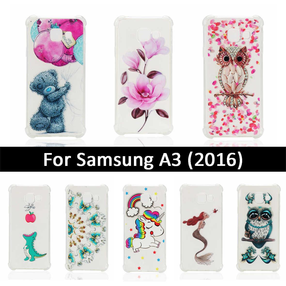 ТПУ чехол для Samsung Galaxy A3 2016 A310 A310F противоударный мягкий силиконовый милый чехол Fundas для Samsung A3 A 3 310 310F Чехлы Capa