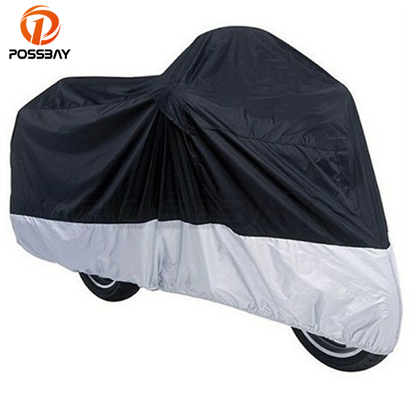 POSSBAY Motorcycle Cover Waterproof Rain Prevention