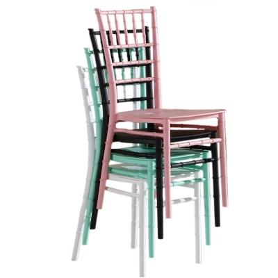 Plastic Castle Chair Banquet Wedding Chiavari Hotel Dining Chair