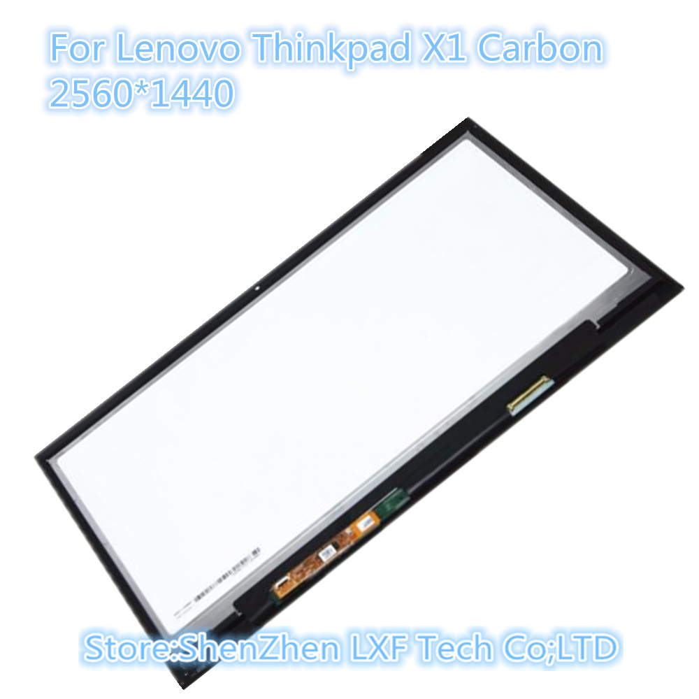 14 Full LCD Display Touch Screen Assembly LP140QH1 SPA2 with Touch For Lenovo Thinkpad X1 Carbon 00HN829 2560X1440