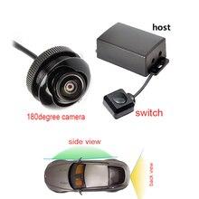 Двухканальная Автомобильная камера видео контроллер коробка автоматический переключатель управления камеры заднего/бокового/Переднего Вида 180 градусов камера для монитора