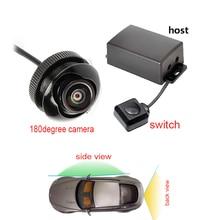 Двухканальная Автомобильная камера видео контроллер коробка автоматический переключатель управления задняя/сторона/вид спереди камеры 180 градусов камера для монитора