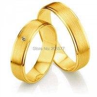 Новое поступление Его и Ее обручальное комплекты Желтая Позолота мужские и женские titanium пары колец