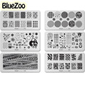 BlueZoo 1 Hoja Nail Art Stickers Para Maquillaje DIY Multi-elemento Rectangular Placa de Accesorios de Belleza de Uñas de Impresión de Uñas Calcomanía