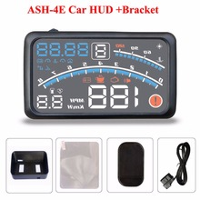 4E 5.5″ Car HUD Head Up Display Car OBD2 II EUOBD Overspeed Warning System Projector Windshield Auto Electronic Voltage Alarm