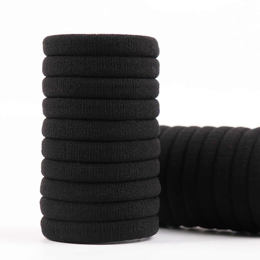 20 шт. черные женские эластичные тканевые резинки для волос резинка для волос кольцо веревка для девушек конский хвост держатель аксессуары для головных уборов