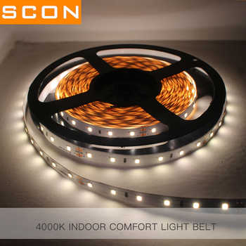 SCON Flexible Rope lights Ra>90 2835 DC12V 60 Leds / M controller adapter LED Strip Lights cut short freely