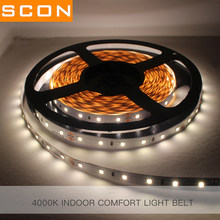 SCON Room Ceiling & Wall Decoration LED Flexible Rope LED Strip Lights High CRI Ra90 2835 DC24V 60 Leds Cut Short Freely