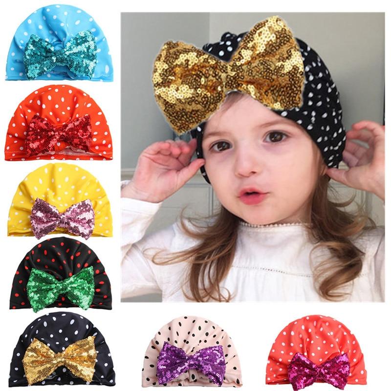 Mother & Kids Reakids Baby Girls Boys Fashion Tie Indian Hat Children Infant Newborns Elastic Childrens Polka Dot Hat Printing Hedging Cap Accessories