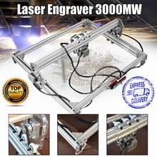 50*65cm Mini 3000MW Blue Laser Engraving Engraver Machine DC 12V DIY Desktop Wood Cutter/Printer/Power Adjustable+ Laser Goggles
