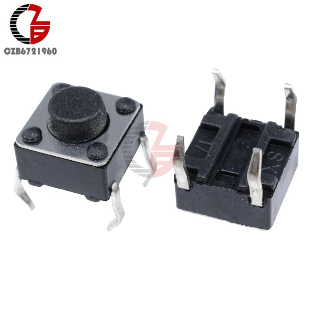 10 Mini Micro 6X6X5mm 4 Pin DIP momentáneo Táctil Tacto Pulsador 7 Chip