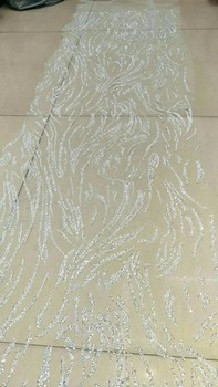 African net lace for women dress New Arrival ZH-42052 african Tulle lace fabric with glitter