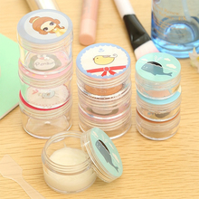 2 Pcs/Set Cute Travel Portable Transparent Cartoon Plastic Cosmetic Containers Cream Jars Refillable Cosmetic Packaging Box