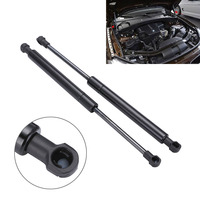 1 Pair New Metal Front Bonnet Hood Lift Support Strut Shock Black For BMW E60 E61
