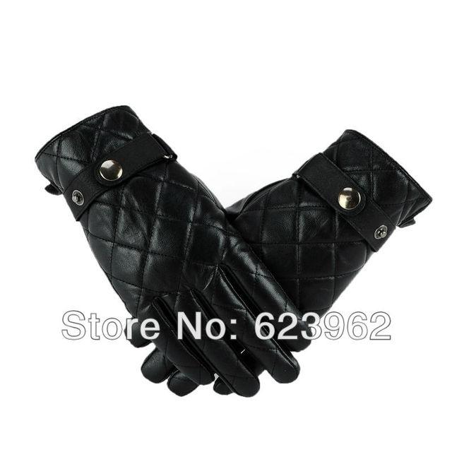 Good quality sheep skin men's winter warm gloves