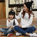 2016 long t-shirtmommy and me clothescottonfamily lookcasualfamily clothingfull sleevecharacter autumn