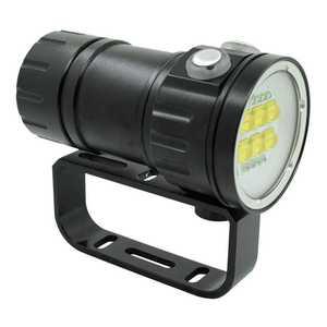 Image 2 - צלילה 20000Lumens 6x9090 לבן + 4xRed + 4xBlue LED צלילה לפיד אור מתחת למים וידאו צלילה פנס מנורת 18650 סוללה מטען