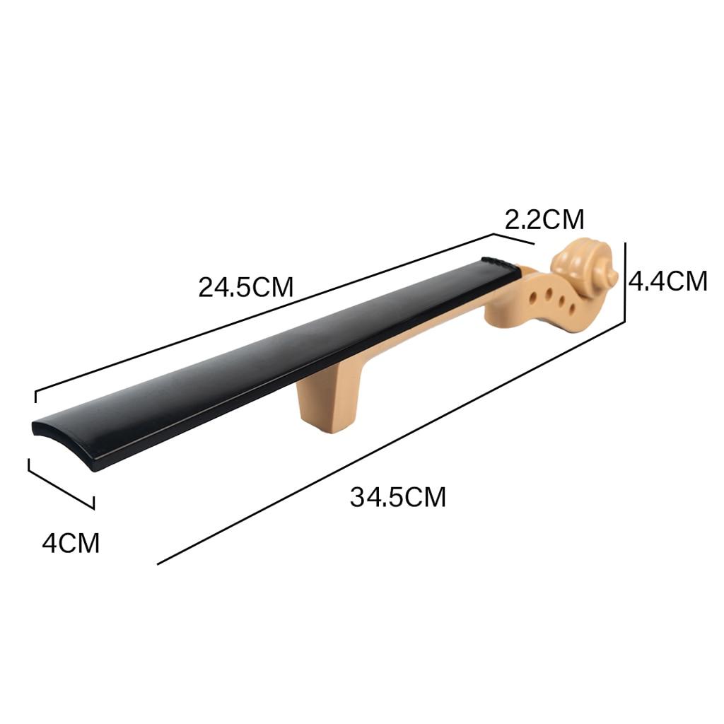 3/4 Size Violin Plastic Head Neck Fingerboard for Acoustic Violin Part
