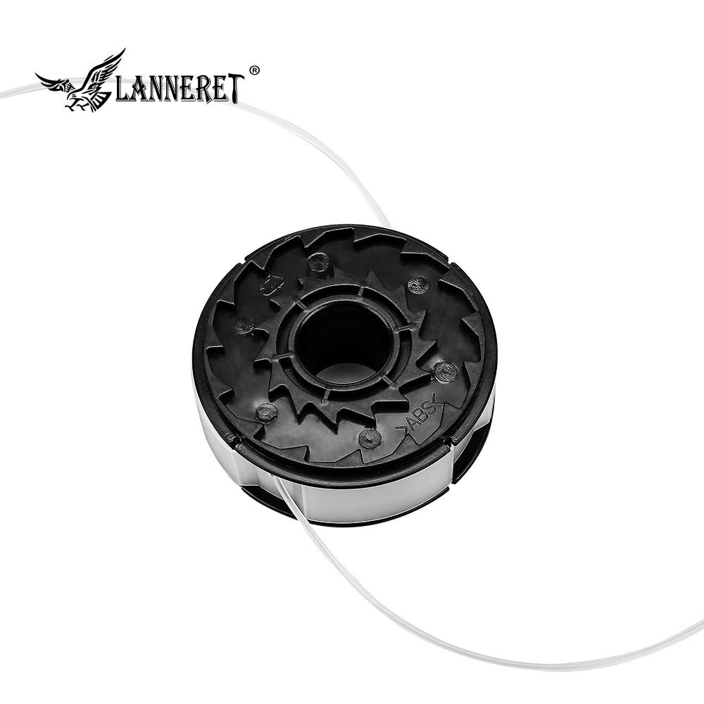 LANNERET Dia.1.6mm Length 6m Universal Nylon Brush Mower Bump Spool Grass Trimmer Head Cut White Rope