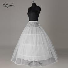 Liyuke фото белый цвет 3 и 6 Обручи Свадебная Нижняя юбка используется для линии свадебное платье Enagua nupcial