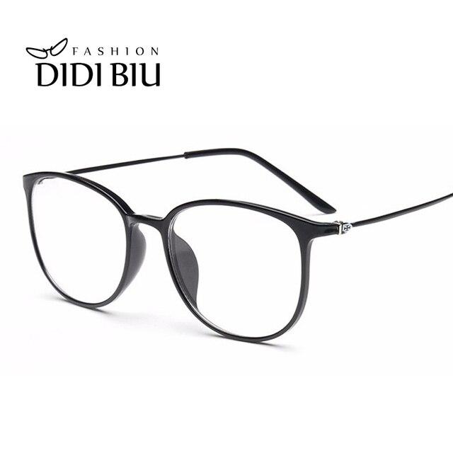 bcca14ec0 DIDI Óculos de Titânio Quadro Mulheres Homens Leopardo Fina Limpar Óculos  de Prescrição Óptica Quadros Ultra