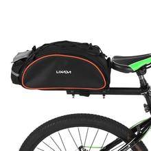 Lixada 13L Handbag Bicycle Rear Seat Bag Cycling Bags Outdoor Cycling Bike Rack Seat Bag Rear Trunk Pannier Backseat Bag цена
