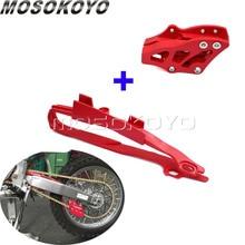 Красный мотокросс эндуро цепи Guide Guard+ маятник цепи слайдер Guard для Honda CR 125R/250R CRF 250R/450R 450X 250X 2005-2007