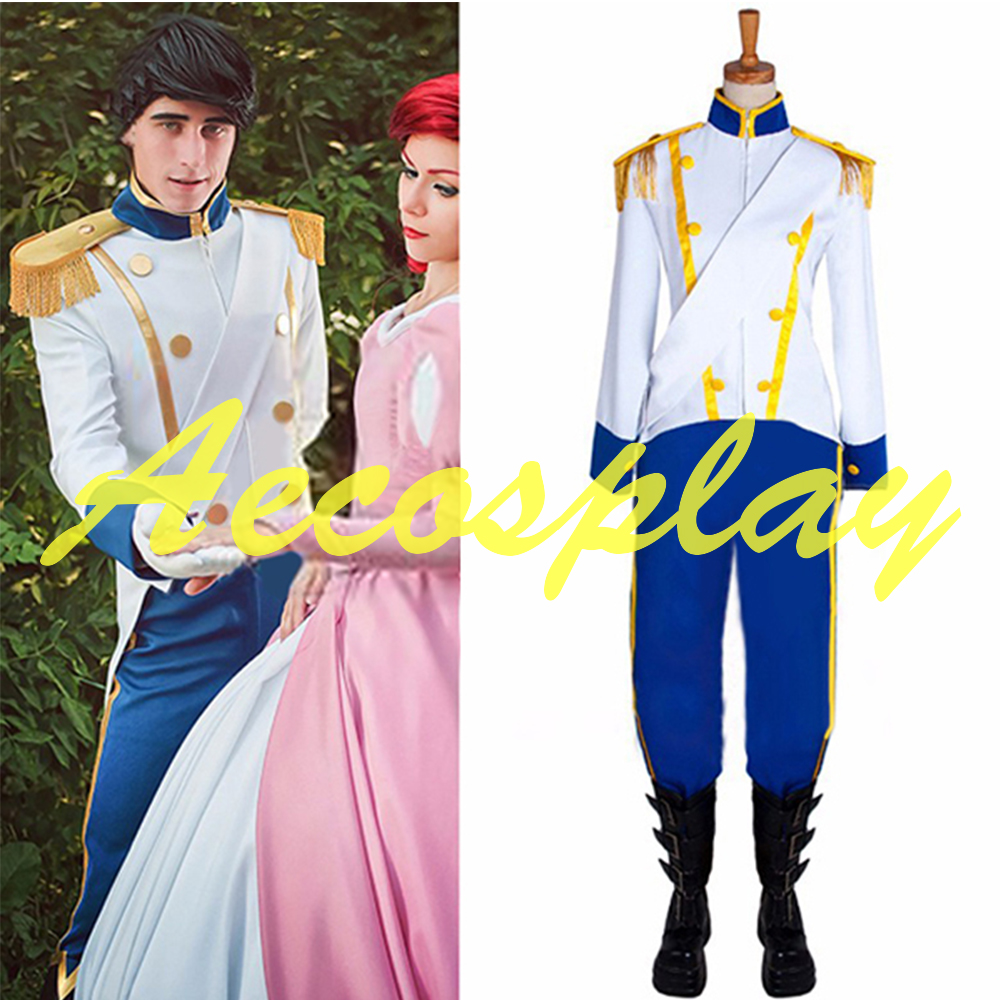 Custom Made The Little Mermaid Prince Eric Costume For Halloween Adult Cosplay Costume  No shoes