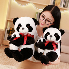 25/30/40 Cm Soft Simulation Panda Plush Toy Stuffed Animal Toys Panda For Children Education Home Decoration Decent Bed Toy цена 2017