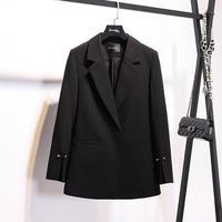 Blazer Feminino Ladies Blazer Suit Jacket Female 2019 New Spring Autumn Long Sleeve One Button Suit Blazer Women Blaser Mujer