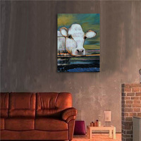 Canvas painting Handpainted Artwork High Quality Modern Wall Art Poster Animal Oil Painting Cow Hang Pictures For Room Decor