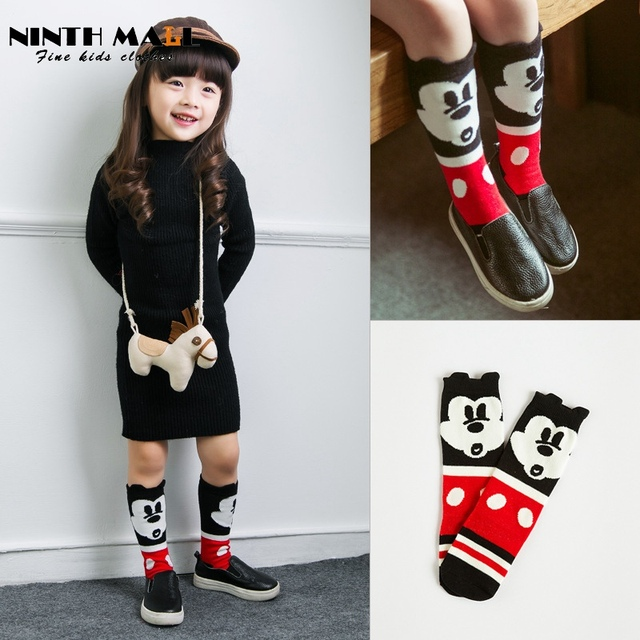 426b37ef5ff Baby Cartoon Minnie Mouse Socks Kids Cotton Knit Knee Long Socks Leg  Warmers Boys   Girls Clothing Calcetines SK09