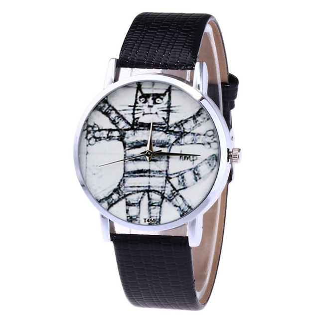 brixini.com - T he Vitruvian Cat Watch