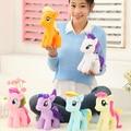 """1 unid 7 """" 18 cm arco iris lindo caballo de dibujos animados juguetes de peluche juguetes de peluche muñecas Movie TV peluches peluches caballito BaoLi"""
