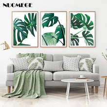 Green Palm Leaf Wall Art Prints Smile Benefits Canvas Painting Minimalist Quote Poster Picture for Living Room Home Decor