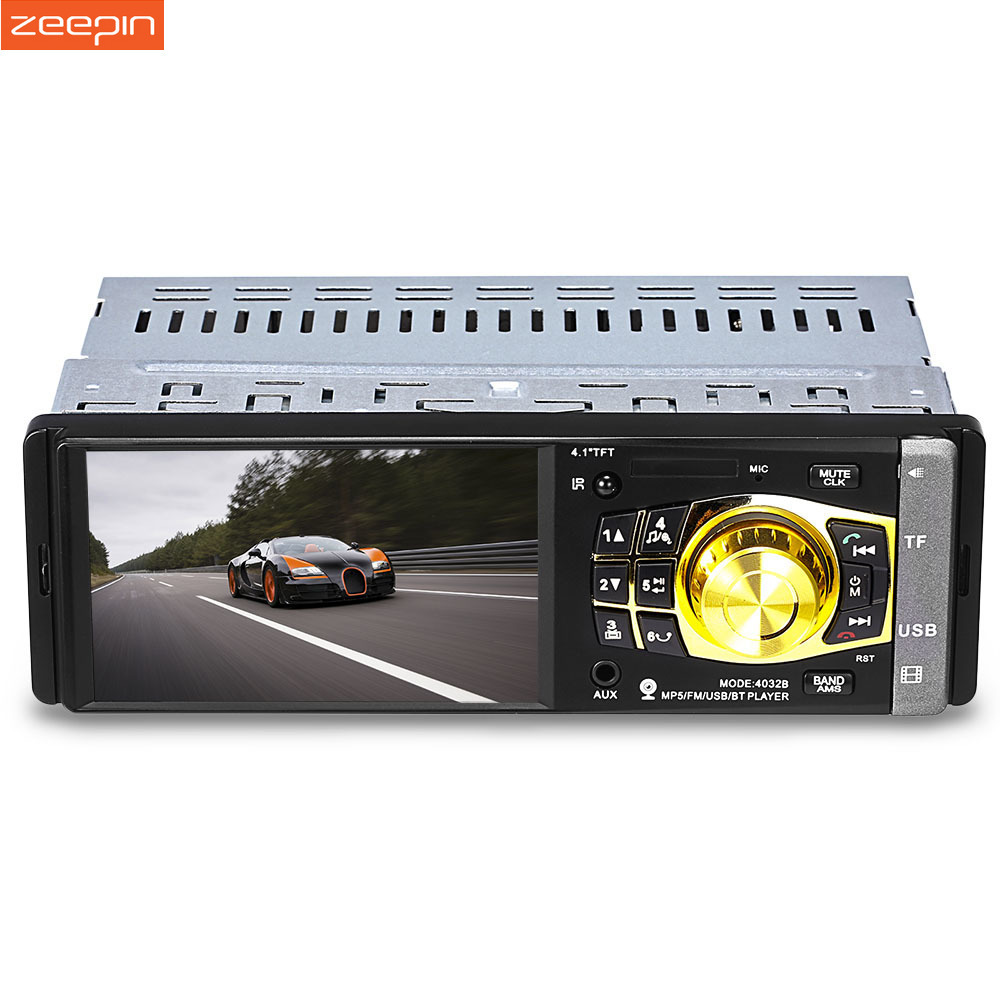 4032B 1Din Bluetooth Car Radio Player Steering-wheel FM USB MP3 Mp4 Mp5 Player 1 Din Car Stereo With/NO Rear View Camera Auto цена
